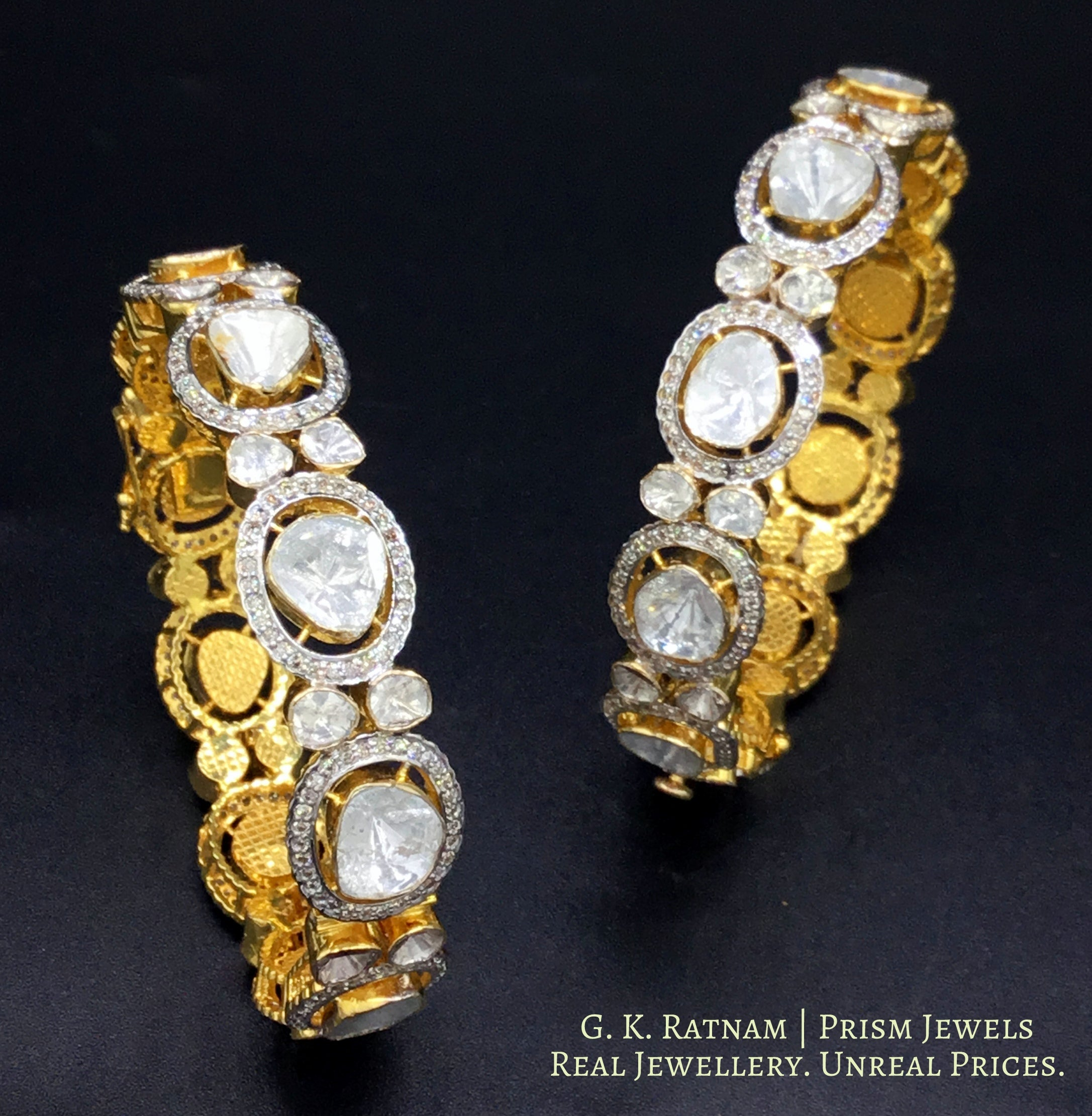 Bangle Pair - gold diamond polki kundan meena jadau jewellery