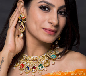 Necklace Set - gold diamond polki kundan meena jadau jewellery