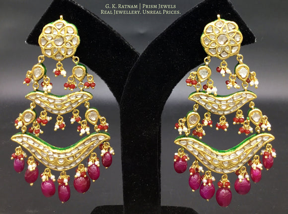 Chandelier - gold diamond polki kundan meena jadau jewellery