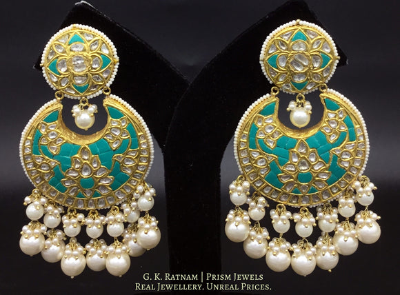 Chand Bali - gold diamond polki kundan meena jadau jewellery