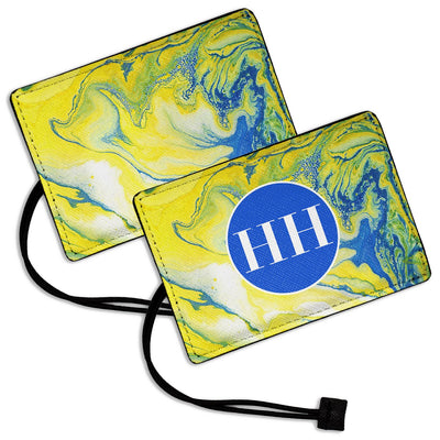 Yellow Marble - Luggage Tag