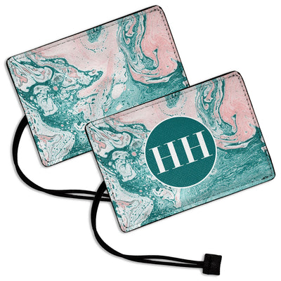 Pink Green Marble - Luggage Tag
