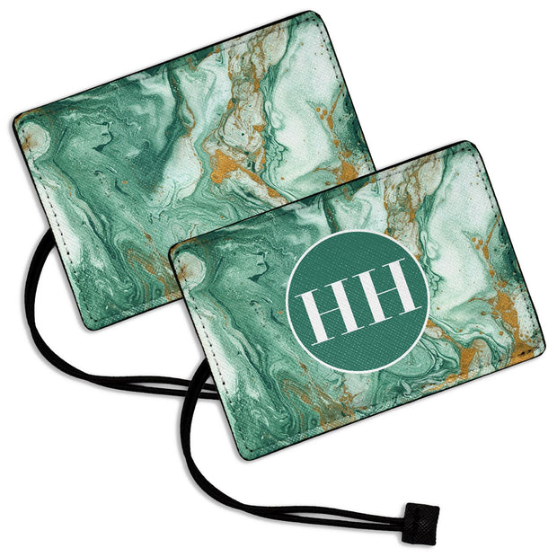 Green Marble - Luggage Tag