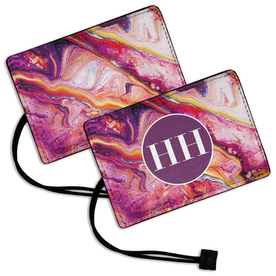 Purple Marble - Luggage Tag