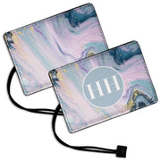Pink Marble - Luggage Tag