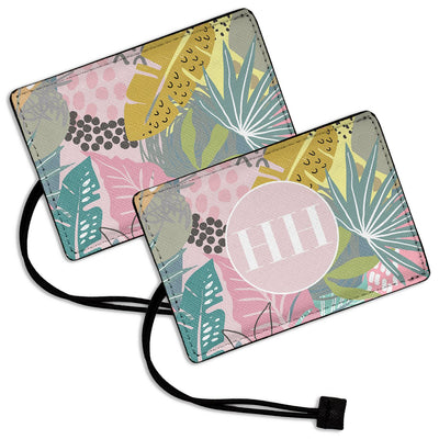 Pastel Leaves - Luggage Tag
