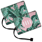 Tropical Leaves - Luggage Tag