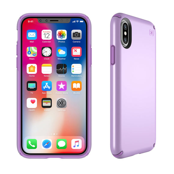 New - Speck Predisio Metallic for iPhone X - Taro Purple