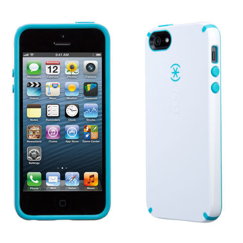 Speck CandyShell iPhone 5/5S/SE  - White/Peacock Blue