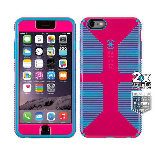 Speck CandyShell Grip Faceplate iPhone 6 Plus/6S Plus - Lipstick Pink/Jay Blue