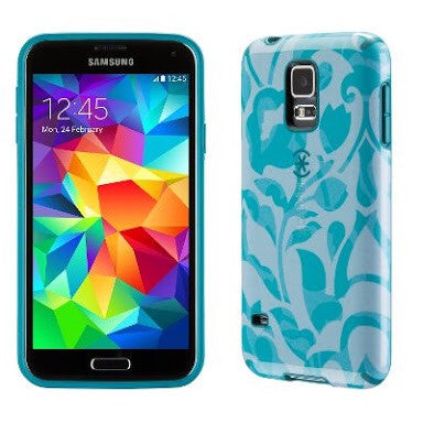 Speck CandyShell Inked - Samsung S5 - Wall Flowers Blue/Atlantic Blue