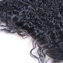 "Lace Frontal 13x4"" Bouclé (Kinky Curly) Noir Naturel 100% Cheveux Indiens"