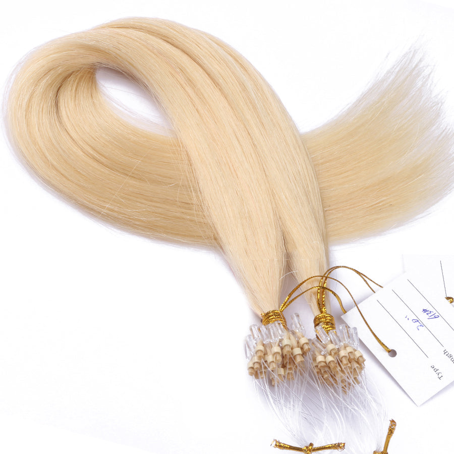 10A Brazilian Hair Micro Loop Hair Extensions Color #613
