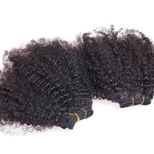 10A Tissage Afro Kinky Curly Noir Naturel 100% Cheveux Vierges Indiens