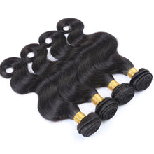 10A Tissage Ondulé(Body Wave)Noir Naturel 100% Cheveux Vierges Indiens