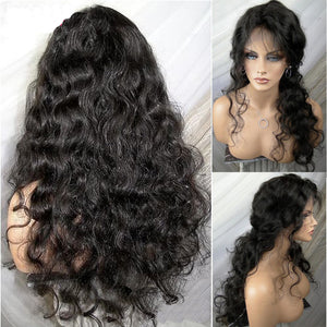 【Perruque】13*6 Lace Front Wig Ondulée(Wavy)100% Cheveux Humains