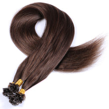 10A Brazilian Hair U Tip Hair Extensions Color #4