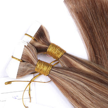 10A Russian Hair Tape In Hair Extensions #27/6 Highlight Color