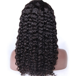 【Perruque】Lace Front Wigs Couleur naturelle Bouclé(Deep Curly )100% Indien Remy Hair