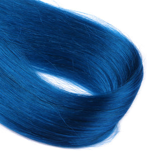 10A European Hair Micro Loop Hair Extensions #Blue Color