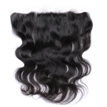 "Lace Frontal 13x4"" Ondulé (Body Wave) Noir Naturel 100% Cheveux Brésiliens"