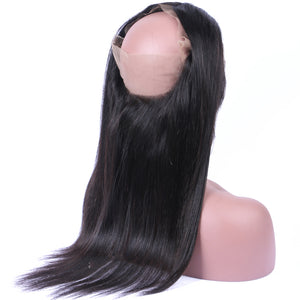 360 Lace Frontal Lisse Ultra Noir Naturel 100% Péruvien Remy Hair