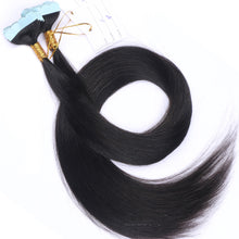 10A Malaysian Hair Tape In Hair Extensions Color #1B