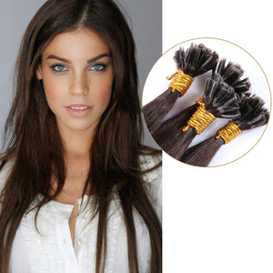 10A European Hair U Tip Hair Extensions Color #3