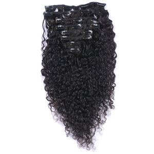 10A Brazilian Hair Clip-In Hair Extensions Kinky Curly