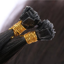 10A European Hair Flat Tip Hair Extensions Natural Black