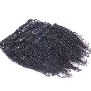 10A Brazilian Hair Clip-In Hair Extensions Afro Kinky Curly