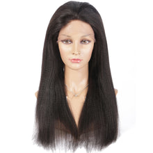 【Perruque】13x6 Lace Front Couleur naturelle Yaki Straight 100% Indienne Remy Hair