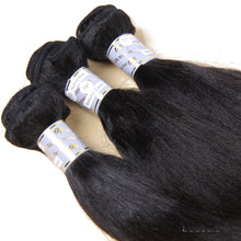 10A Malaysian Virgin Hair Weave Natural Color Light Yaki