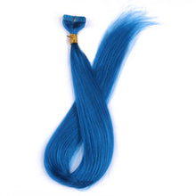 10A Brazilian Hair Tape In Hair Extensions #Blue Color