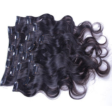 10A Brazilian Hair Clip-In Hair Extensions Body Wave