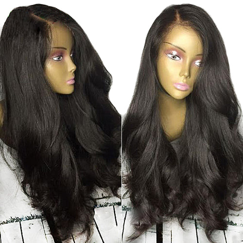 【Perruque】Lace Front Couleur naturelle Ondulé(Loose Wave)100% Indien Remy Hair