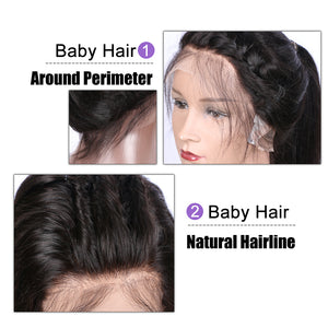 【Perruque】Silk Base Lace Front Wigs Super Lisse 100% Cheveux Humains Indiens