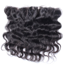 "Lace Frontal 13x4"" Ondulé (Body Wave) Noir Naturel 100% Cheveux Indiens"