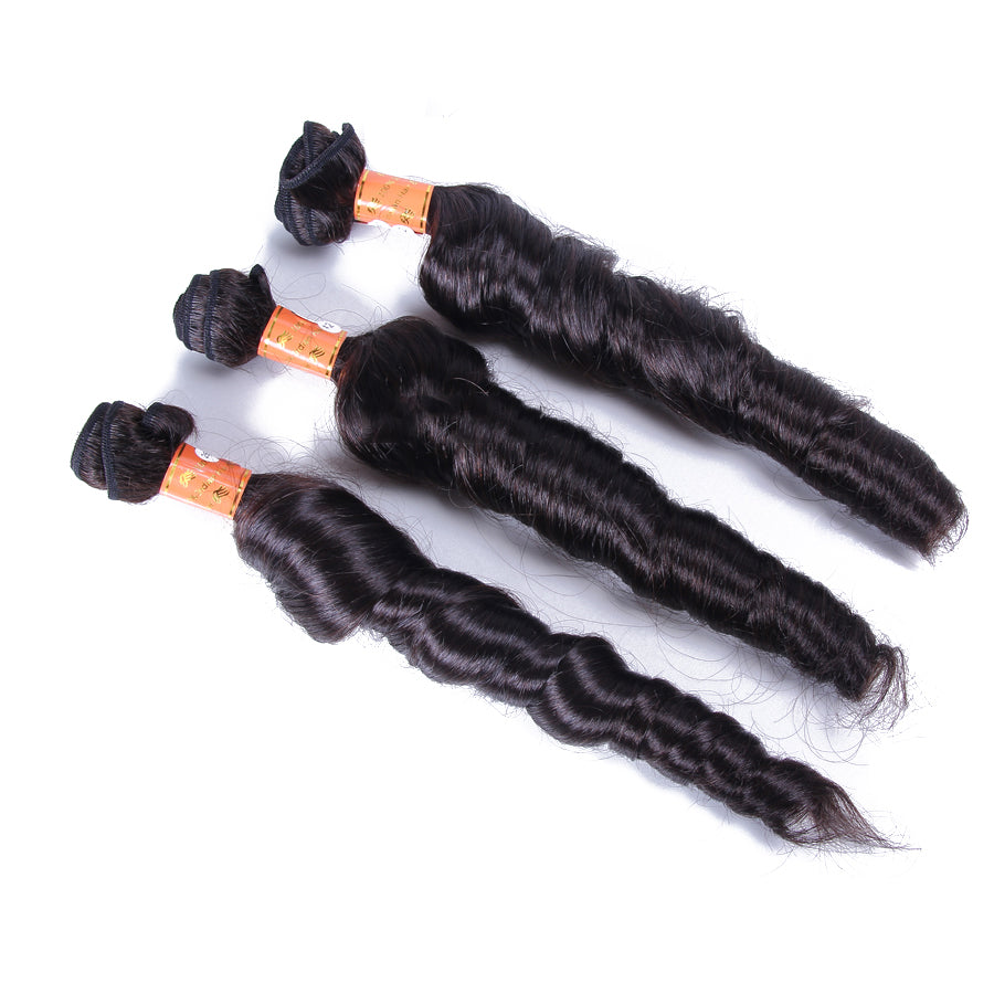 10A Malaysian Virgin Hair Weave Natural Color Romance Curly