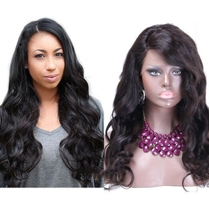 【Perruque】13x6 Lace Front Noir Naturel Ondulé(Natural Wave) 100% Malaisien Remy Hair