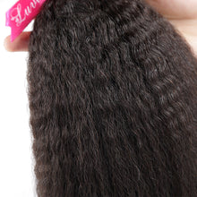 10A Tissage Kinky Straight Noir Naturel 100% Cheveux Vierges Indiens