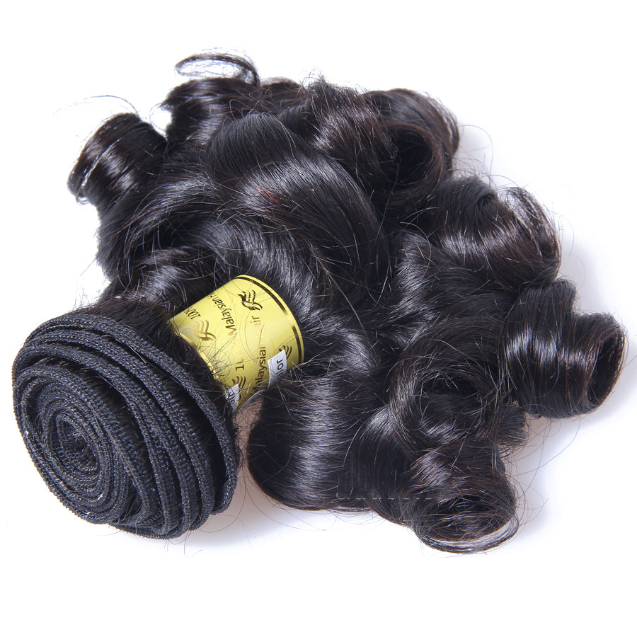 10A Malaysian Virgin Hair Weave Natural Color Bouncy Curly