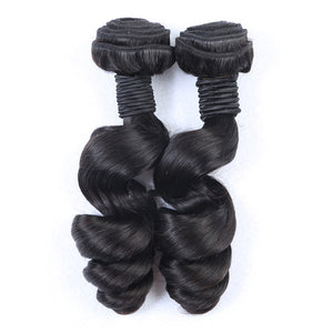 10A Tissage Ondulé(Loose Wave)Noir Naturel 100% Cheveux Vierges Indiens