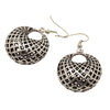Tibetan Silver Hollow Round Dangle Vintage Earrings