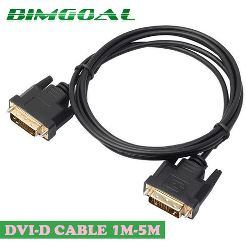 0.5M 1M 2M 3M 5M High Speed DVI to DVI Cable Adapter 24+1 pin DVI-D Gold Plated CABLE