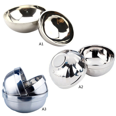 1 PC New Arrival Eco-Friendly Bowl Anti-Rust Stainless Steel Smooth Rolled Edge