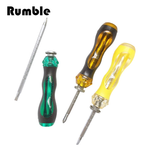 1 pcs Magnetic Double End Screwdriver Flat Phillips Screw Driver Adjust Slotted Repair