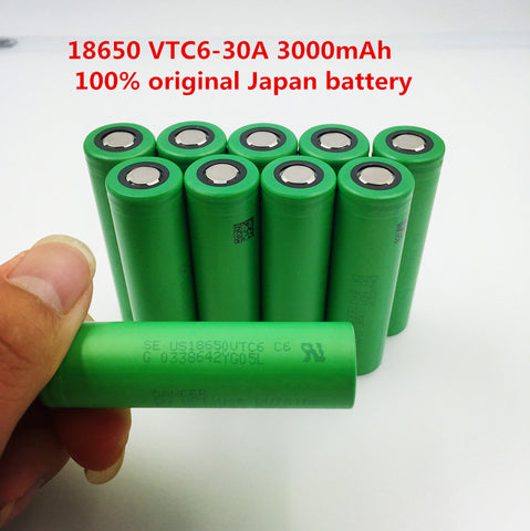 100% 3.7V 3000mAh 18650 Li ion rechargeable battery for Electronic Cigarette