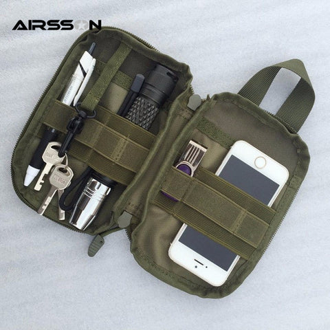1000D Nylon Tactical Bag Outdoor Molle Military Waist Fanny Pack Mobile Phone Case Key