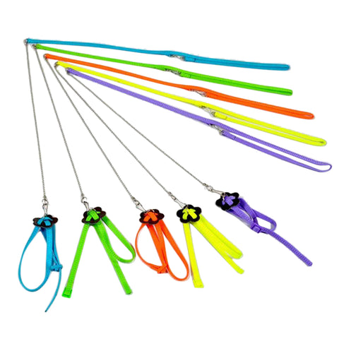 120cm 0.6cm Bird Parrot Adjustable Harness & Leash Anti-bite Multicolor Light Soft Bird